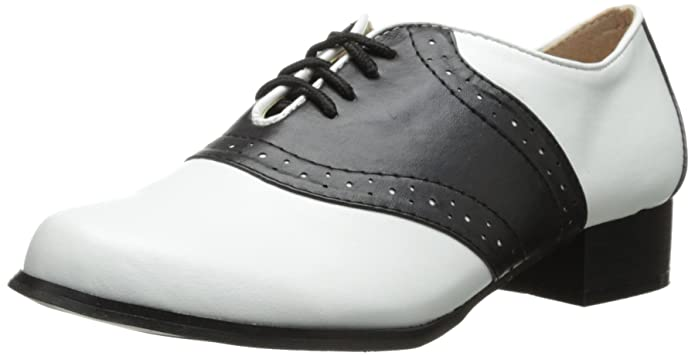 Saddle Shoes: Women's Vintage Black & White Shoes 105-SD Oxford Saddle AT vintagedancer.com