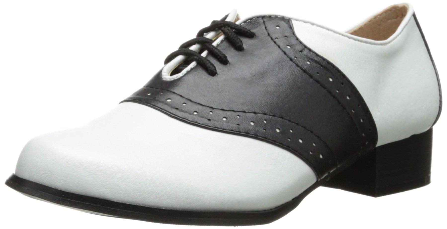 Ellie Shoes Women's 105-saddle, Black/White, 8 M US