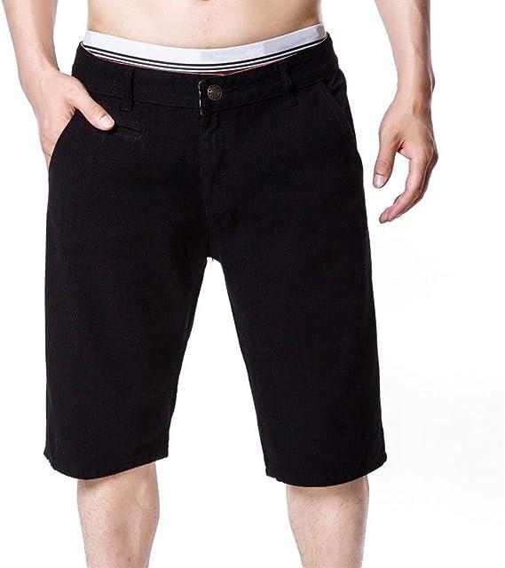メンズジップワイドパンツ ブリーチ第五ストレートメンズジーンズパンツメンズカジュアルパンツショーツ エフェクトライトウォッシュ (Color : Black, Size : L)
