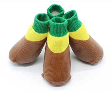 CHWYFX Calcetines Impermeables para Mascotas Calcetines para Perros al Aire Libre Calcetines Antideslizantes A Prueba de
