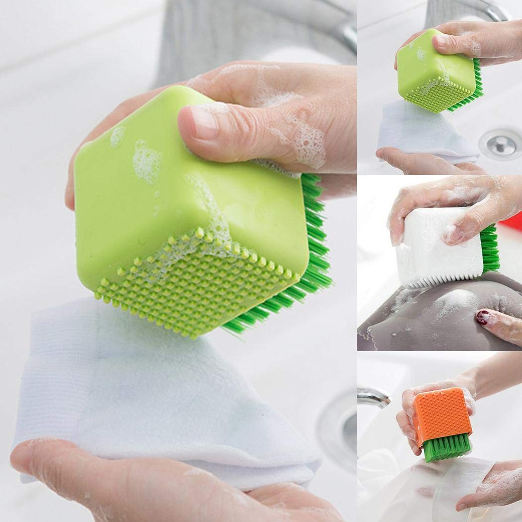 UpBeauty Portable Durable Home Soft Brush Hair Silicone Laundry Brush Brushes Green