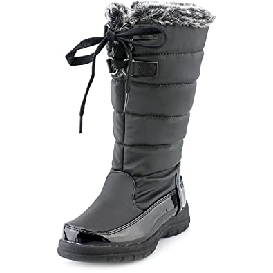Totes Hollie Youth US 12 Black Winter Boot