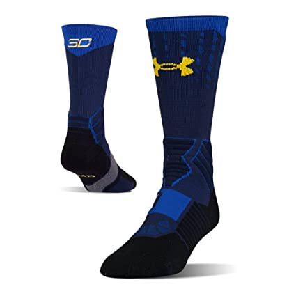 Under Armour - Calcetines de baloncesto - U3744P1-400, Large, Midnight Navy/