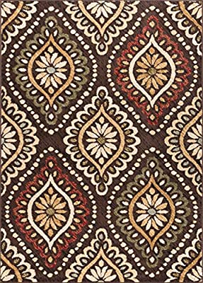 Universal Rugs Transitional Medallion 5 ft. x 7 ft. Area Rug