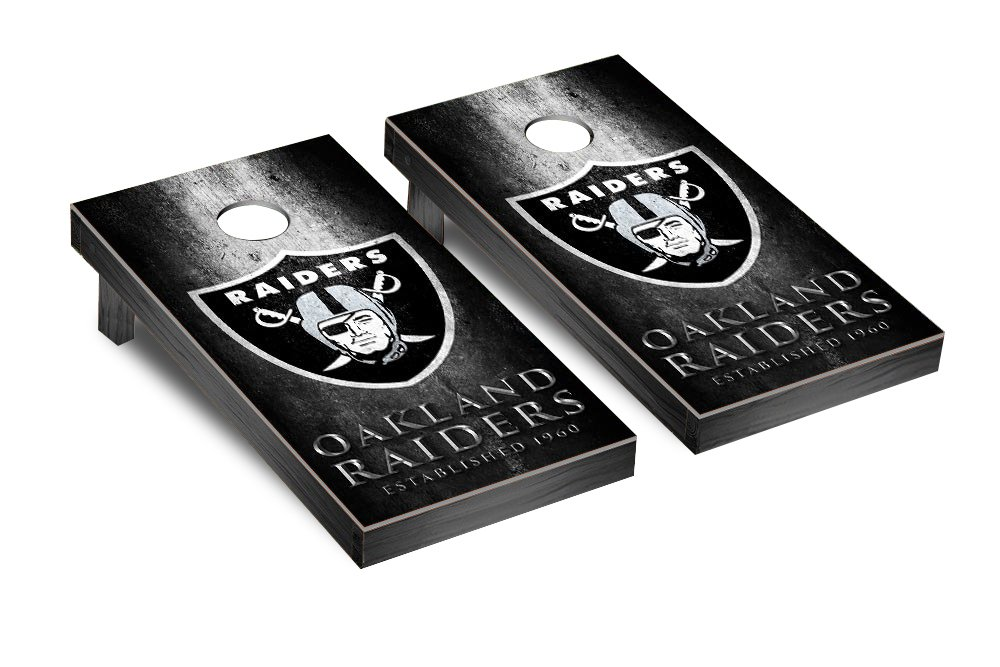 NFL Oakland Raiders Museum Version Football Corn hole Game Set, One Size