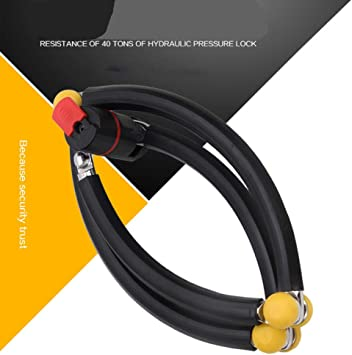 Anti-theft lock-bicycle chain lock-wire lock-ring lock mountain Bike 2 Key