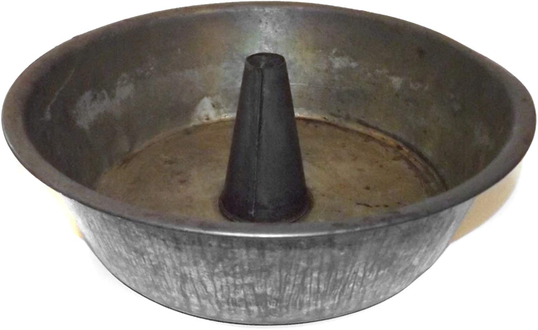Antique Primitive Tin Angel Food Cake Pan