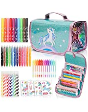 Fruit Scented Markers Set with Unicorn Pencil Case PLUS Augmented Reality Experience - STEM Toys Perfect Unicorn Gifts For Girls or For Art and Craft Colouring