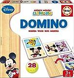 Educa - 16037 - Jeu éducatif d'association - Domino en bois - Mickey Et Minnie