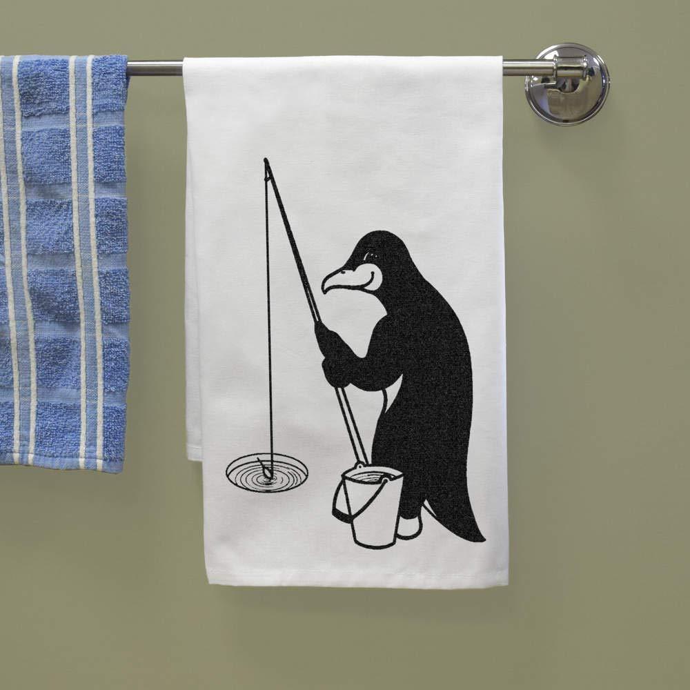 Azeeda P/êche Pingouin Torchon TW00010522