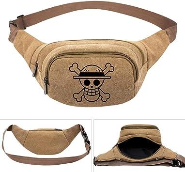 One Piece Anime Law Skull Men s Women Canvas Waist Pack Bag ...