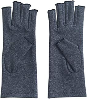 BFHCVDF A Pair/Set Comfortable Men Women Breathable Arthritis Joint Pain Relief Gloves Gray S