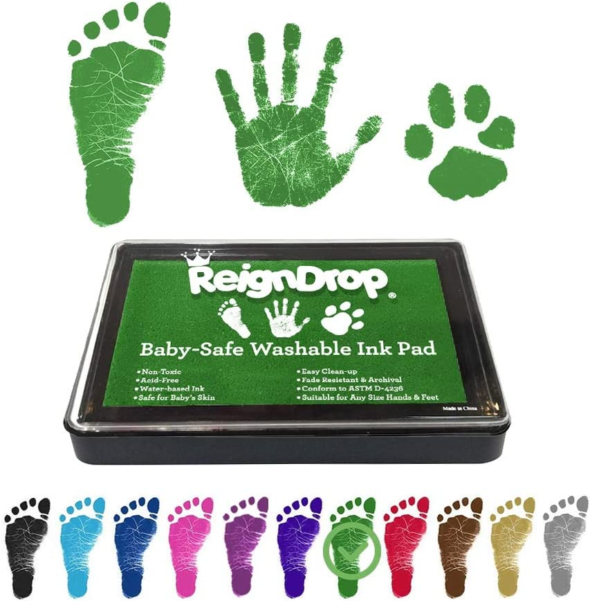 Lin890 3 Pack Premium No-Mess Ink Baby Footprint /& Handprint Ink Pad Safe and Non-Toxic Ink Perfect New Baby