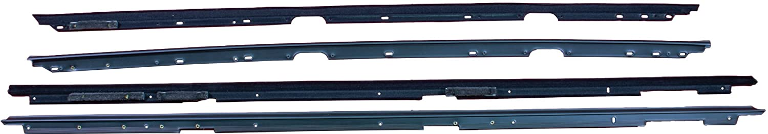 Replaces 12394511, 12394510, 10124265, 10124264 APDTY 134002 Door Window Dew Wipe Rubber Weatherstrip Seal Includes Left /& Right Inner /& Outer Fits 1982-1992 Chevrolet Camaro or Pontiac Firebird
