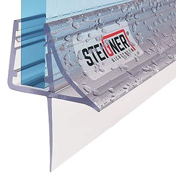 STEIGNER 120 cm Junta Repuesto Para el Vidrio 3,5mm//4mm//5mm//6mm//7mm Junta Vierteaguas de Ducha UK21 Protecci/ón Chorros Mamparas Ducha
