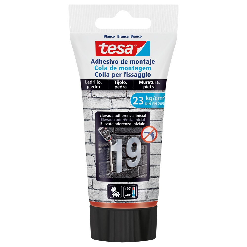 Tesa 77937  –   00001  –   00  Adhesive Mounting for Brick and Stone (23  kg/cm2, DIN EN 205) Tesa Tape 77937-00001-00