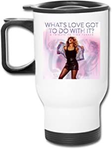 Tina Turner Coffee Cup, Stainless Steel Water Cup for Home, Office, Outdoor for Ice Drinks and Hot Beverage