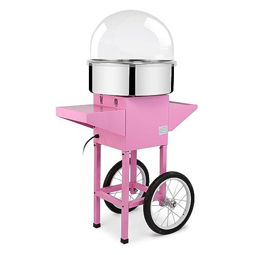 Autovictoria Máquina de Algodón de Azúcar Acero Inoxidable Máquina Eléctrica para hacer Algodón de Azúcar Cotton Candy Machine Commercial (con Cubierta y ...