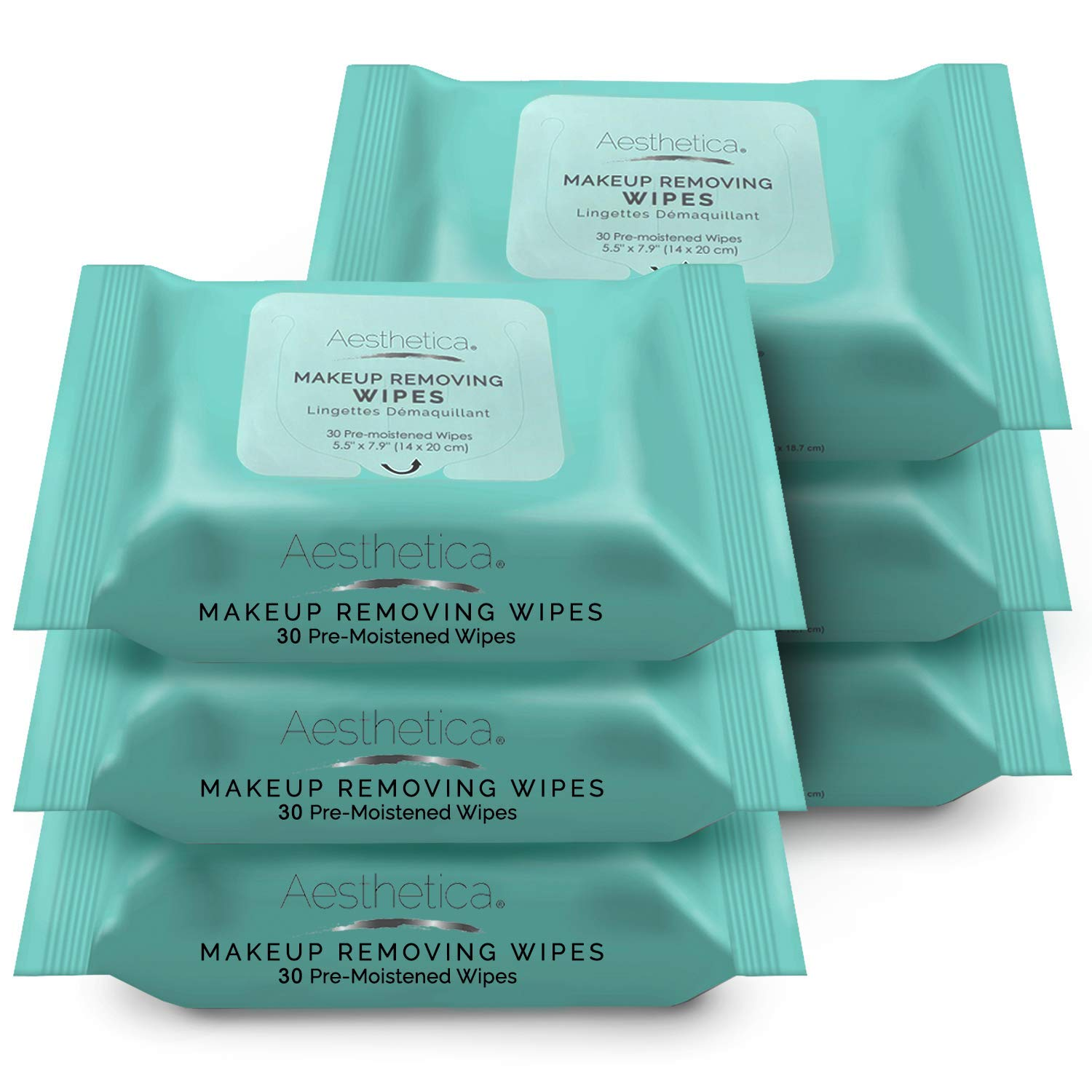 Aesthetica Makeup Removing Wipes - Facial & Eye Makeup Remover Wipes