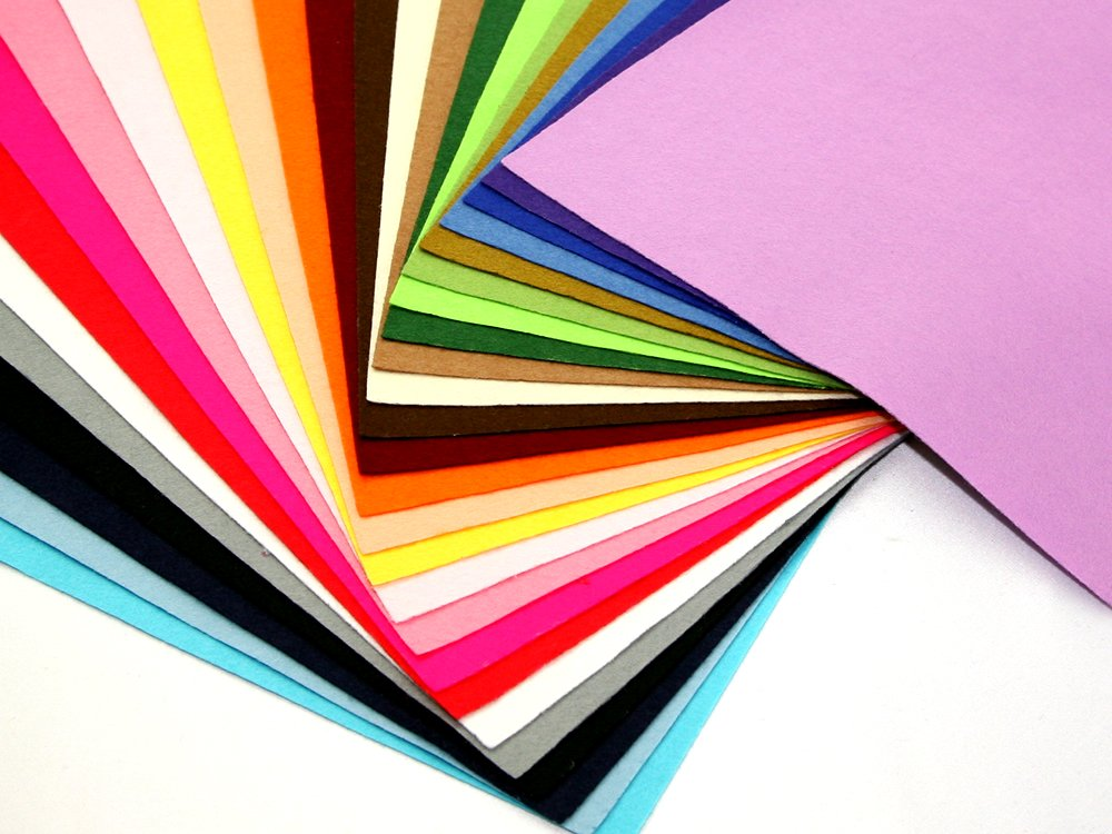 FAST /& FREE DELIVERY A4 CRAFT FELT ACRYLIC  PACK 25 PIECES ASSORTED COLOURS