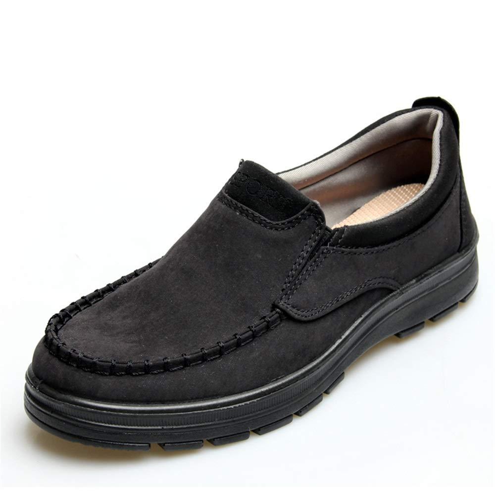 ZHRUI Große alte Peking Tuch Schuhe dauerhafte für Männer Nicht Beleg dauerhafte Schuhe Breathable Schuhe (Farbe : Schwarz, Größe : EU 40) Schwarz 216506
