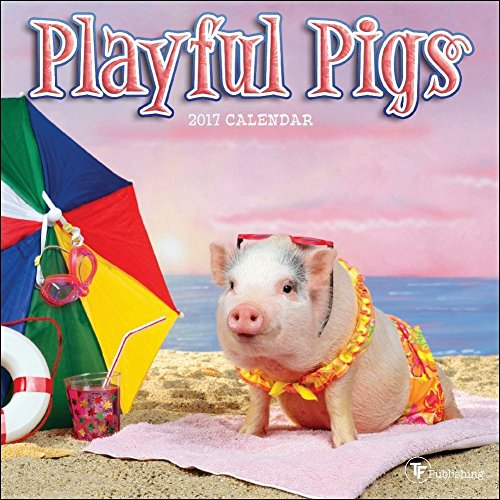 TF Publishing 2017 Playful Pigs Mini Calendar (17-2035)