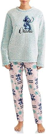 Disney Womens Lilo and Stitch Ohana Plush Fleece 2 Piece ...