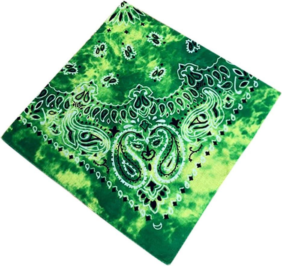 Fire 90sMuse Bandana 22 Tie Dyed Handkerchief 100/% Cotton Paisley Print Hankie Seamless Square Hand Towel Soft Bandana Scarf Dust Protection Sun,UV Multi Purpose Wristband