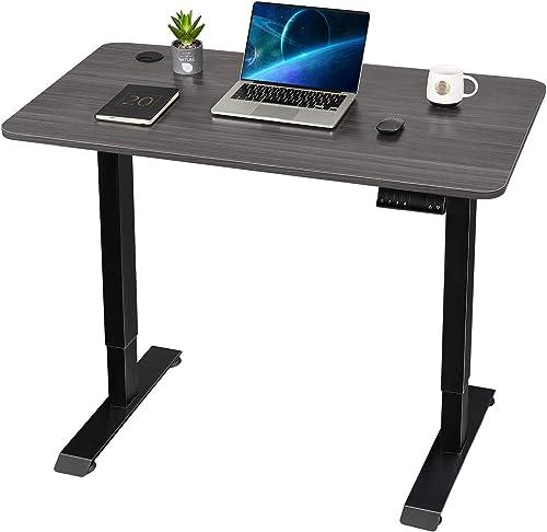 Furmax Electric Adjustable Sit Stand Home Office Desk Ergonomic Computer Workstation - a good cheap modern office desk