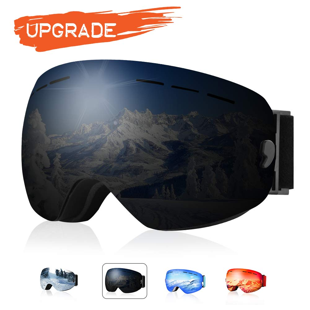 4acdfa7d5d XOOYKI Ski Snowboard Goggles Winter Sports Eyewear Dual Lens Anti-Fog OTG  UV Protection Replaceable Lens Elegant Packaging for Men Women