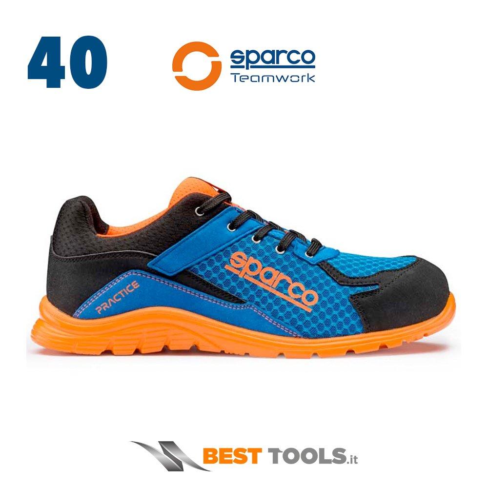 Sparco 0751740 Azaf Practice Scarpe, blu/arancione 0751740AZAF