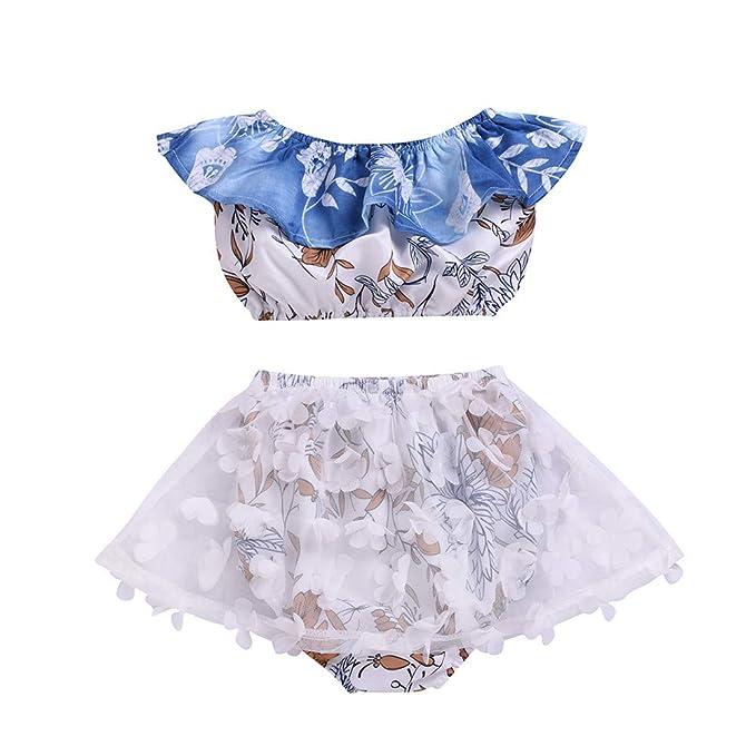 Amazon.com: Bebé Niña Flor Silvestre Tops Pantalones Cortos ...