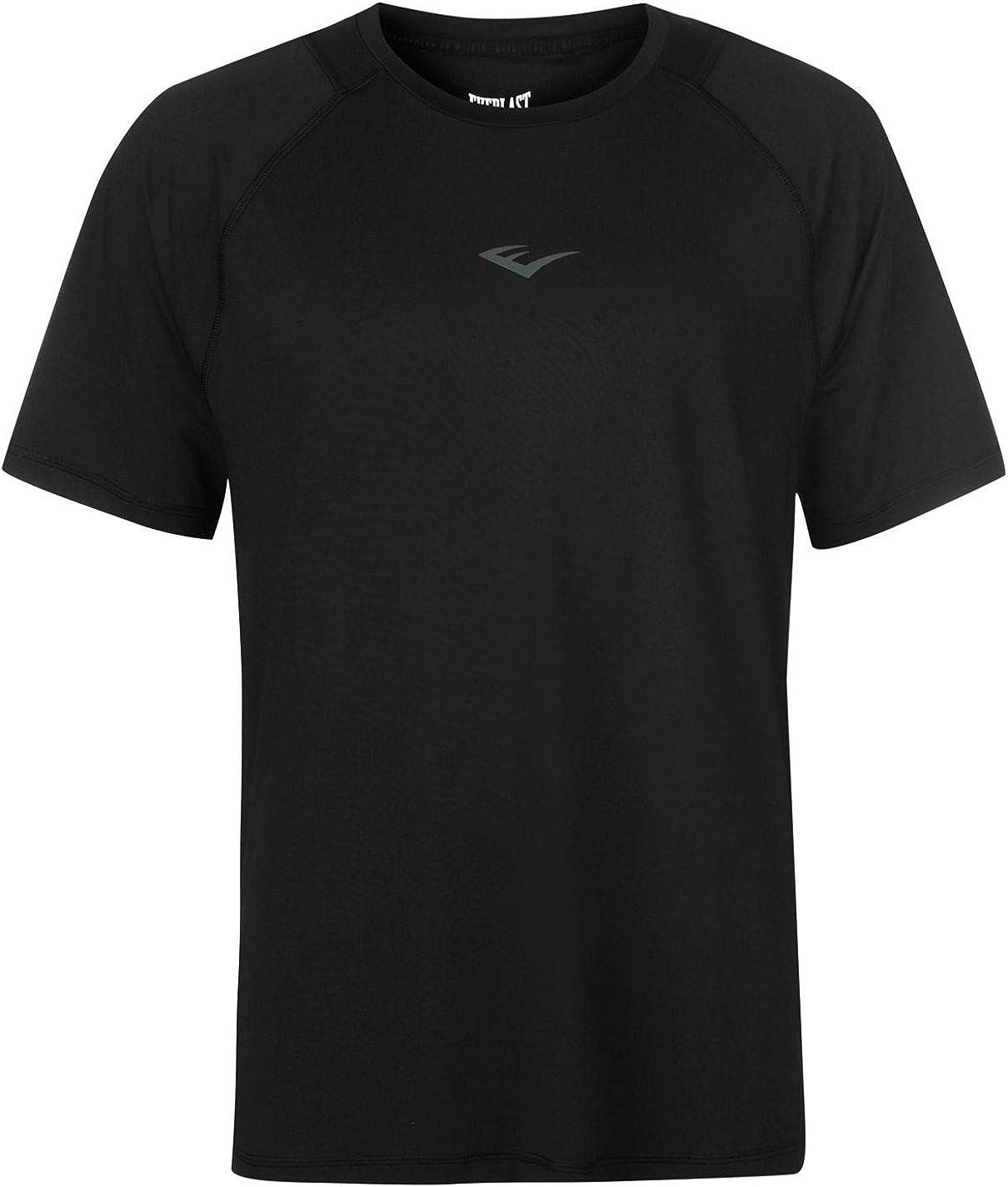 Everlast Hombre Poly Camiseta Manga Corta Negro S: Amazon.es: Ropa ...