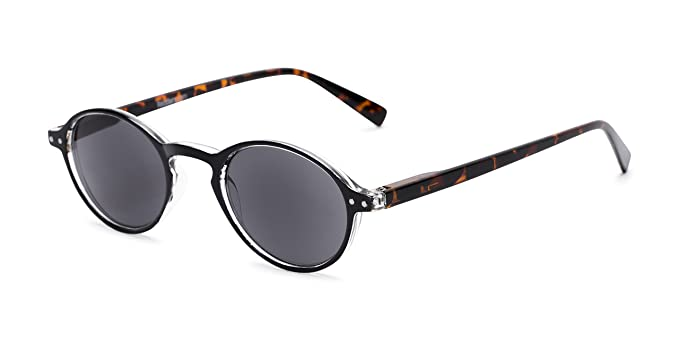 Readers.com | The Loft Reading Sunglasses +2.50 Black/Tortoise with Smoke Round Stylish Men's & Women's Full Frame