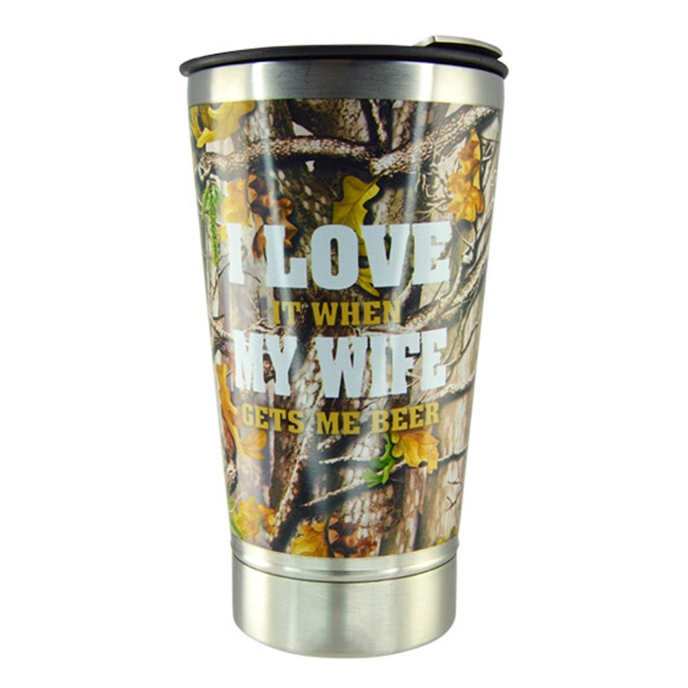 Amazon.com | Roughneck Stainless Steel Vacuum Beer Glass ...