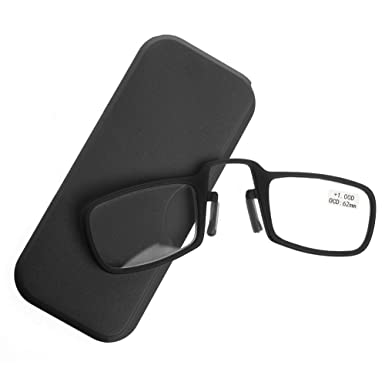 d78c0b2dbb94 Magicub Portable Mini Nose Clip Reading Glasses with Case 1.0 1.5 2.0 2.5  3.0 3.5 (
