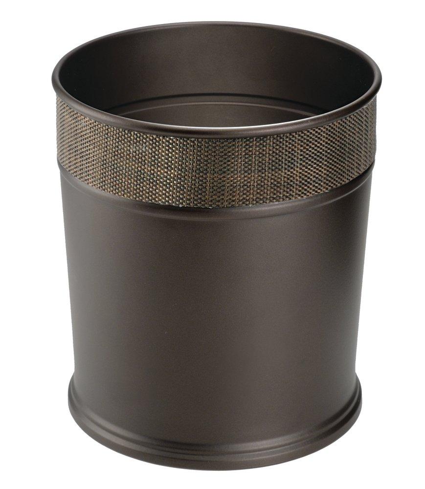 Steel Wastebasket Trash Can - Bronze - for Bathroom ...