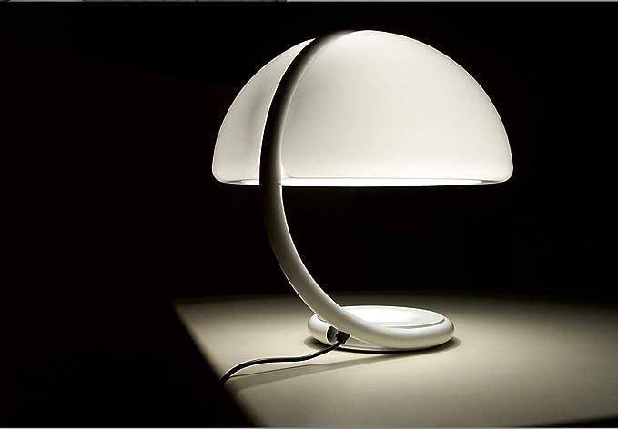 Martinelli Luce Serpente Lampada Da Tavolo A Luce Diffusa Con Braccio Girevole Bianco Amazon It Illuminazione