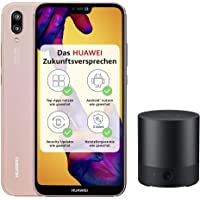 Huawei P20 lite Smartphone (14.83 cm (5.84 Zoll), 64GB interner Speicher, 4GB RAM, 16 MP Plus 2 MP Kamera, Android 8.0, EMUI 8.0) rosa - Deutsche Version + Bluetooth MiniSpeaker CM510, schwarz