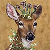 Paperproducts Design Woodland Princess Vicki Sawyer Luncheon Paper Napkins (20 Pack), 6.5'' x 6.5'', Multicolor