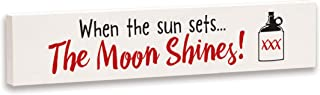 product image for Imagine Design Relatively Funny When The Sun Sets, Stick Plaque, Red/Black/White