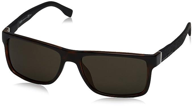 2752d978ca1 Amazon.com  BOSS by Hugo Boss Men s B0919s Rectangular Sunglasses ...