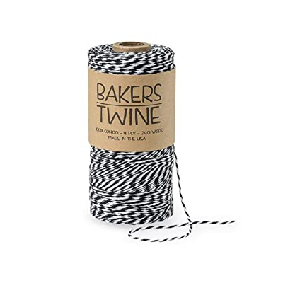 Bakers Twine - 240 Yards (Black & White) : Office Products