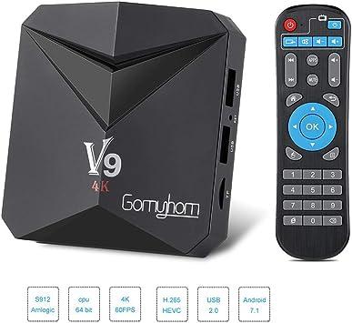 LQQZZZ Android 7.1 Receptor De TV, 4K 3D HD Amlogic S912 Ocho Núcleos Smart TV Box