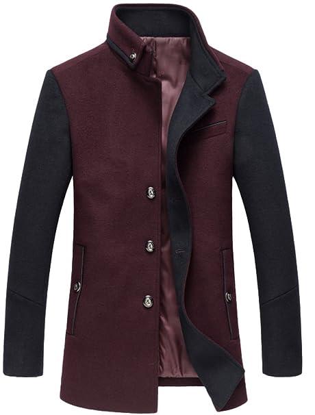 Amazon.com: Mordenmiss - Chaqueta de lana para hombre con ...