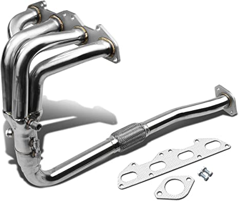NT 1 Gen For 95-99 Mitsubishi Eclipse 4-1 Design 2-PC Stainless Steel Exhaust Header Kit