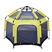 Pack Play Sport Playard Parkside Comfortable Spot Rest Protect Baby Sun Durable-Fast Set up in 2 Seconds