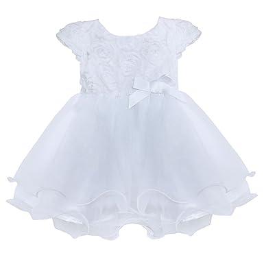 8d59f7f9a YiZYiF Infant Baby Girls 3D Rose Flower Princess Tulle Dress 0-3 Months