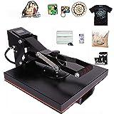 CO-Z Máquina de Prensa de Calor Multifuncional Prensa de Calor con Pantalla LED Máquina de Sublimación para Camiseta/Máscara/