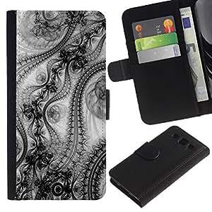 """SAMSUNG Galaxy S3 III / i9300 / i747 , la tarjeta de Crédito Slots PU Funda de cuero Monedero caso cubierta de piel ("""" Wallpaper Design Pattern Art Fashion Inspiration"""")"""